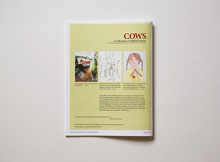 COWS Magazine back cover